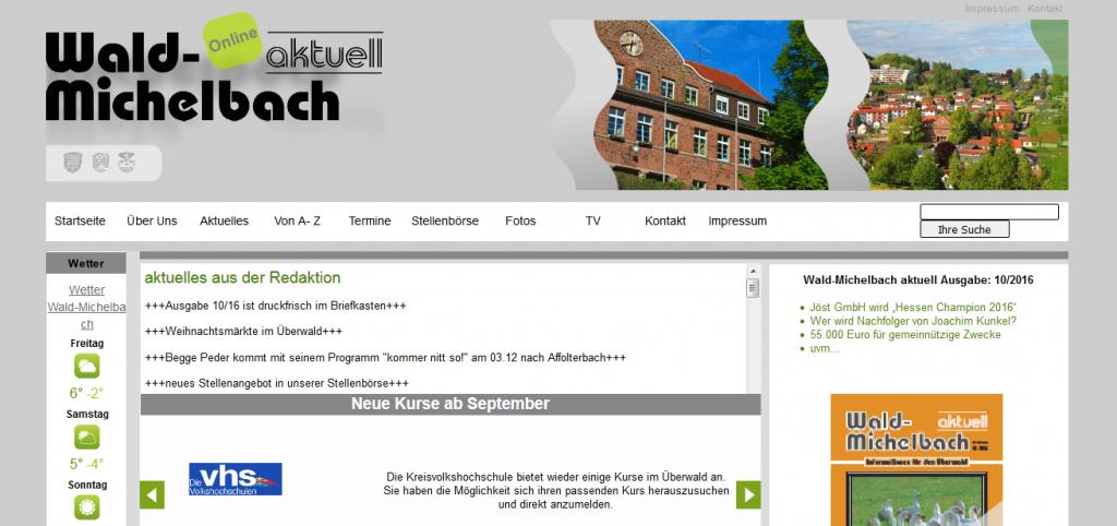Referenzen - Webseiten im Odenwald